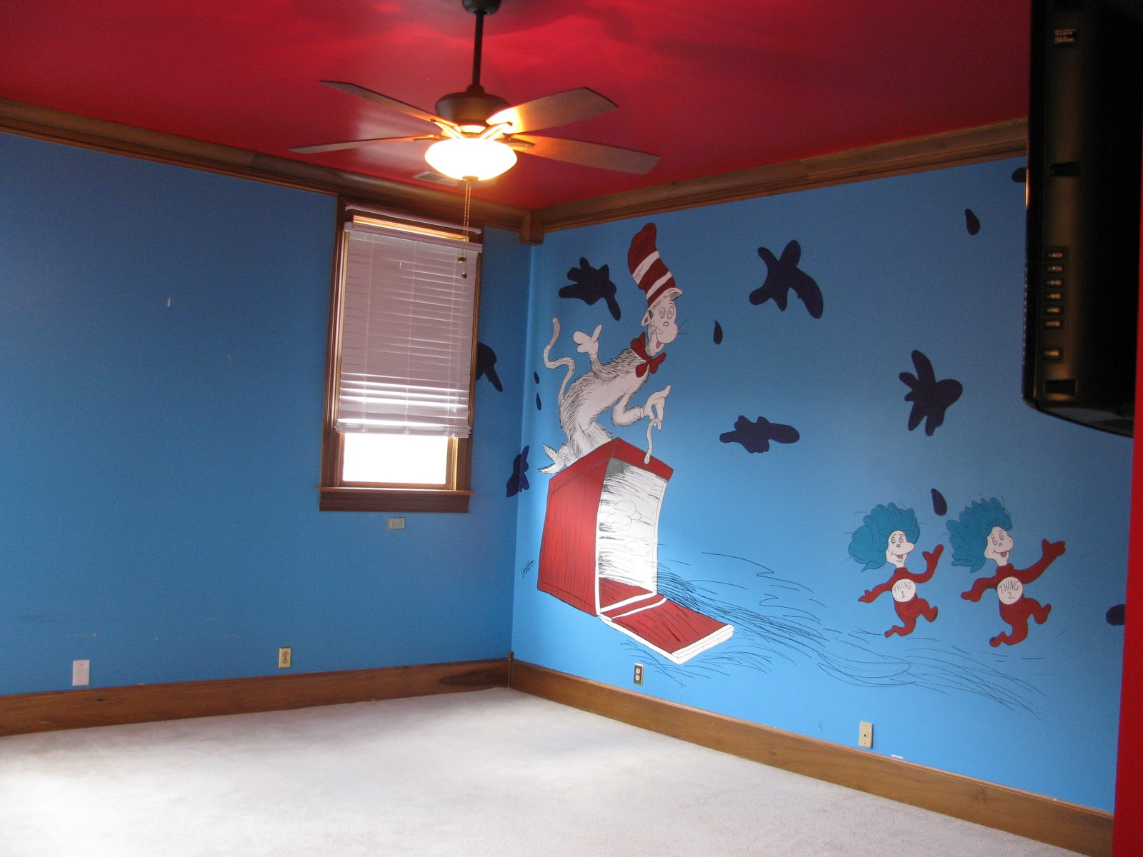 a country home bedroom 2 the cat in the hat room - Cat Room Design Ideas