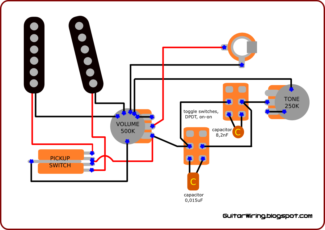 Wiring Diagram For Guitar Tone Control : The guitar wiring diagrams and tips gentle tone