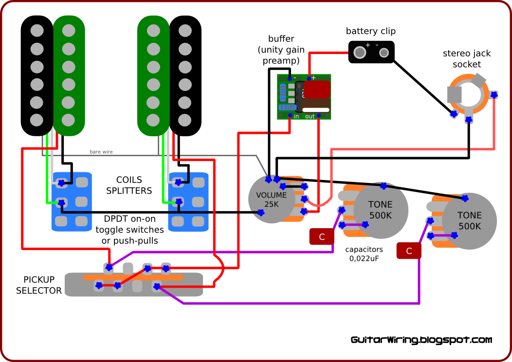 Wiring Diagrams For Guitars: The Guitar Wiring Blog   diagrams and tips  Wiring Inspired by    ,