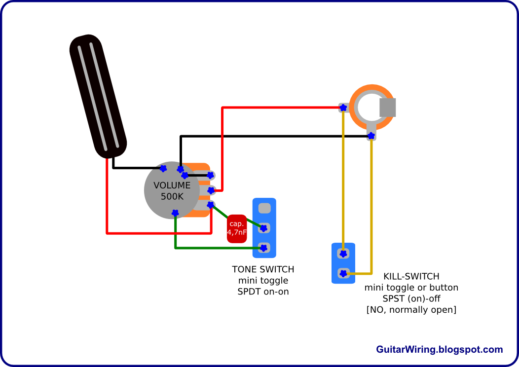 Guitar Wiring La Frankenstein Eddie Van on one single coil pickup wiring diagram
