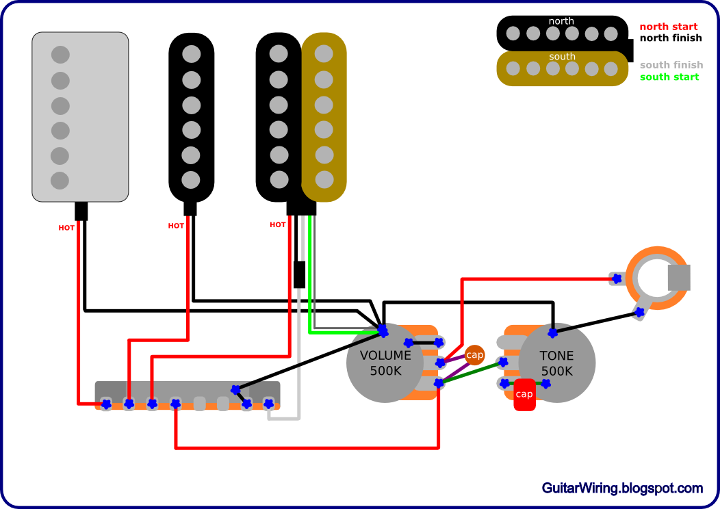 the guitar wiring blog diagrams and tips ibanez rg with a paf rh guitarwiring blogspot com Phase Wiring Two Humbuckers Single Humbucker Single Volume Wiring