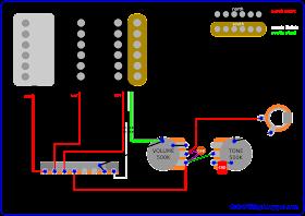 ibanezpaf  Humbucker Pickup Wiring Diagram With Treble Bleed on