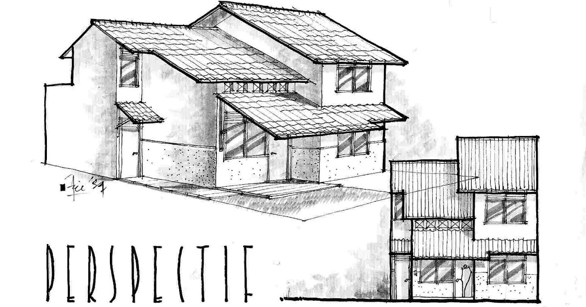 Dreamhouse Sketch Small House For Small Family