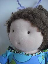 Min første dukke. Hun hedder Karen og jeg skal helt sikkert lave flere..