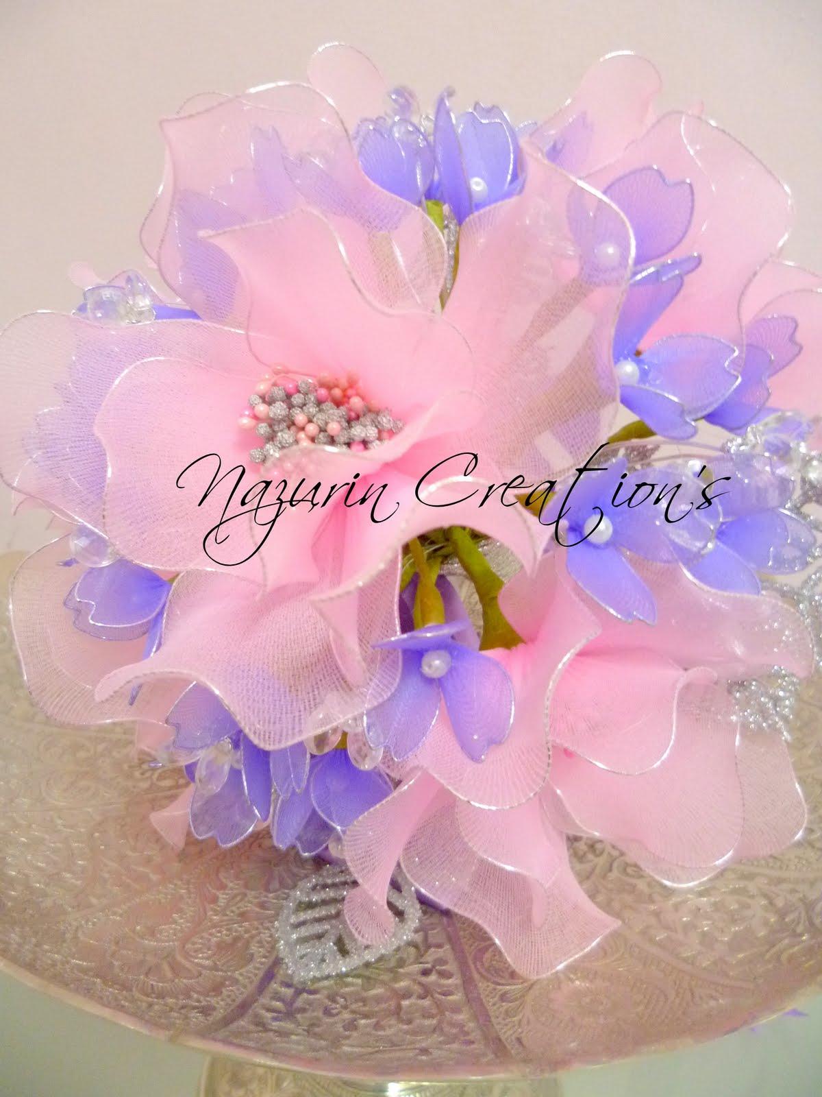 Nazurin Creation's: Bunga Tangan Stoking - Ira