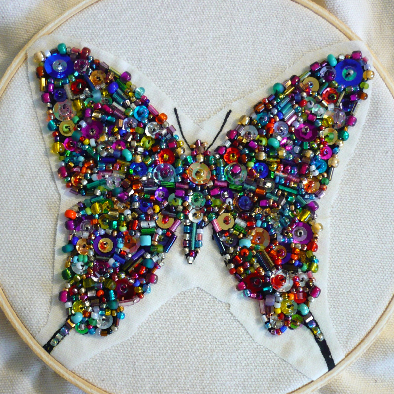 Oops i craft my pants crazy bead soup butterfly for Beads for craft projects