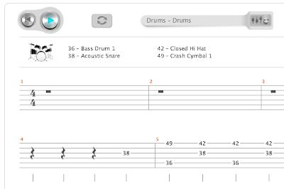 Drum : drum tabs numbers Drum Tabs Numbers plus Drum Tabs' Drums