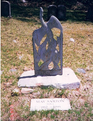 Literary Crushesgrave Matters May Sarton Nelson Cemetery Nelson Nh
