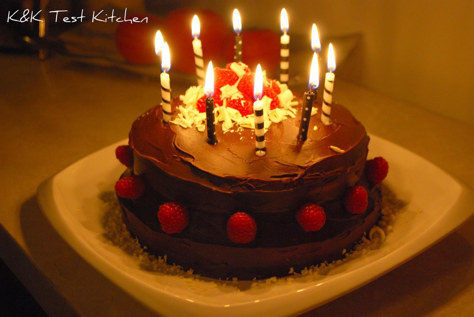 KK Test Kitchen Birthday Cake White Chocolate with Raspberry