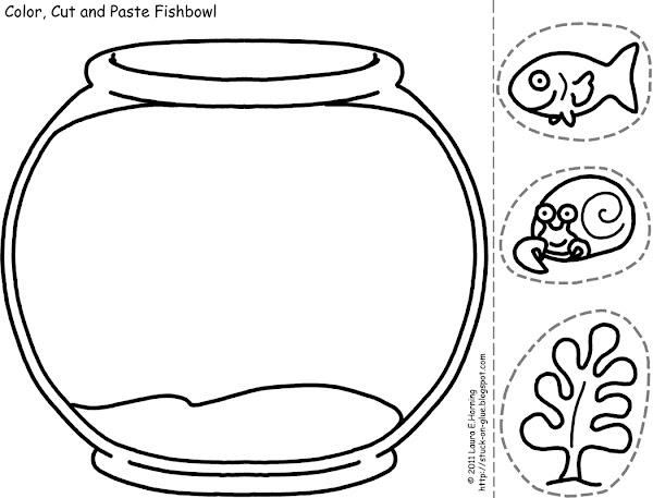 Fish Bowl Template for Kids