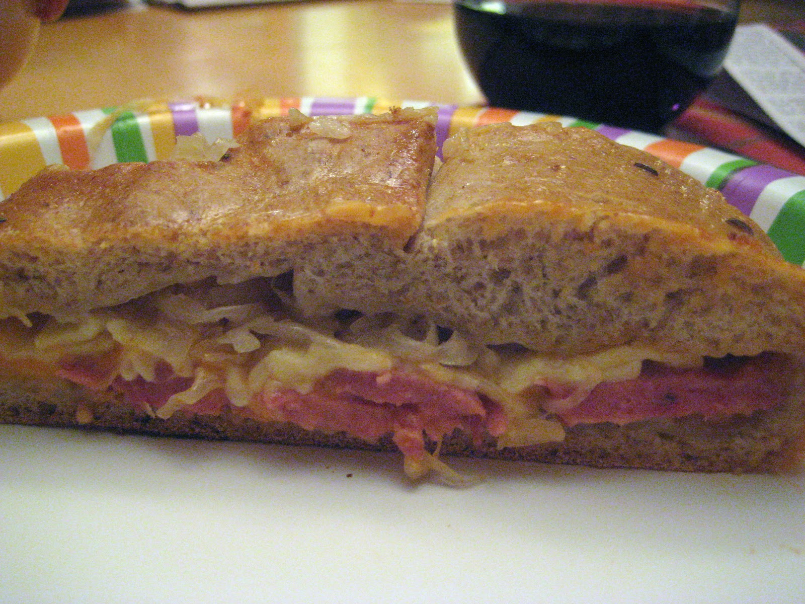 Reuben Bread and Butternut Squash and Leek Soup