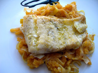 Cocinando entre olivos bacalao confitado en aceite de - Cocinar bacalao congelado ...