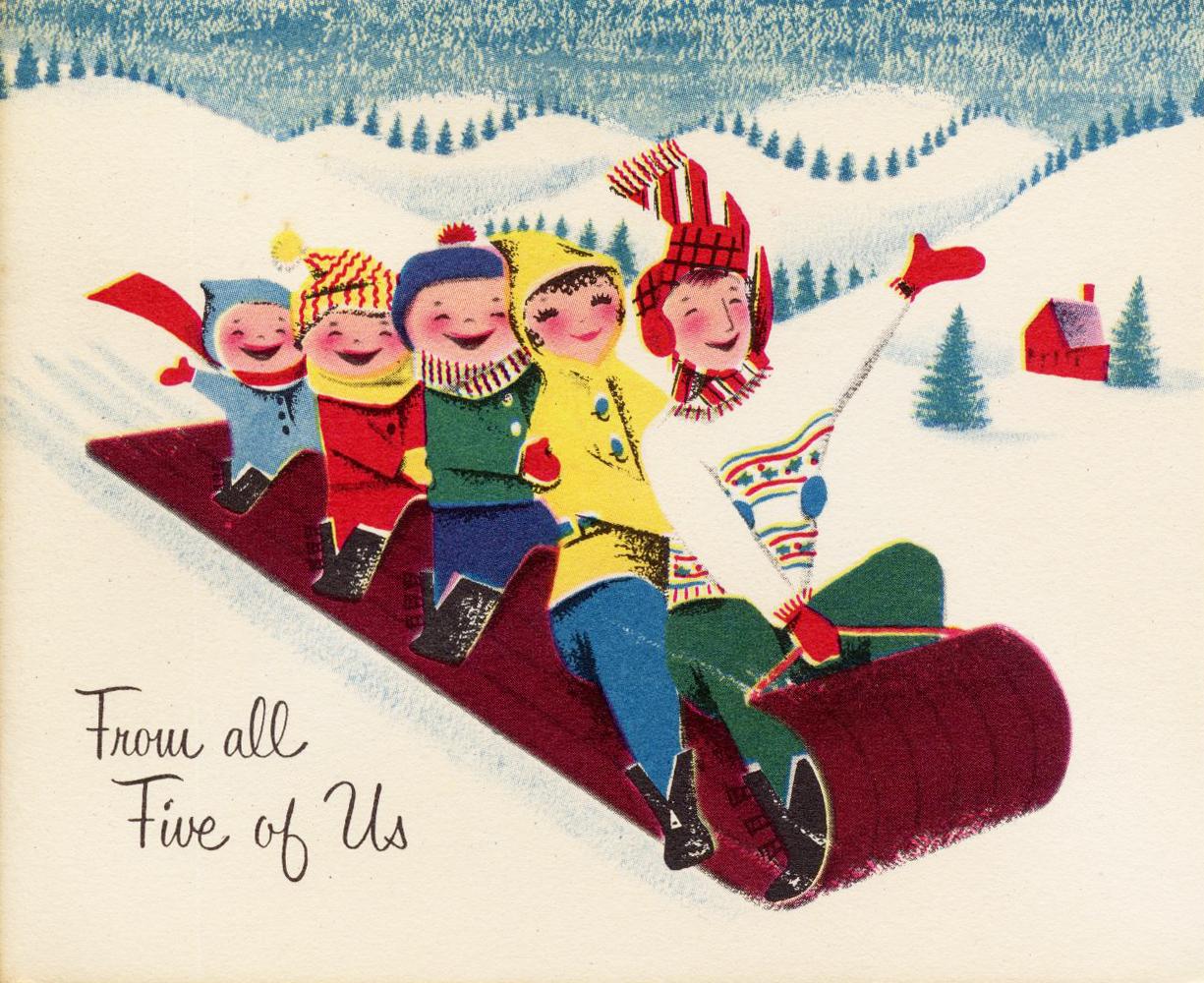 mid century modern christmas card christmas xmas ideas