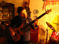 Angelo with his Ibanez Five Strings BTB1005E