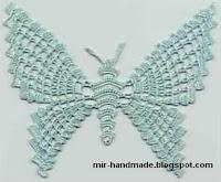 бабочки связанные крючком схемы