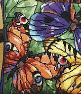 Бабочки (вышитая подушка, схема)
