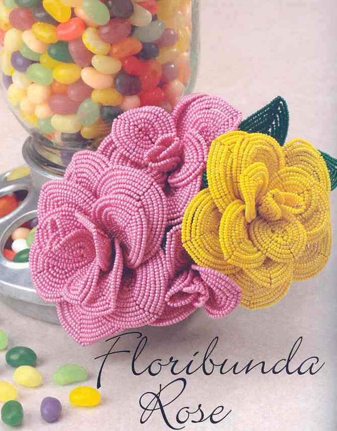 Плетение цветов из бисера для начинающих схемы.
