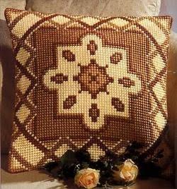 Буклет по вышиванию подушек ( вышивание крестиком,схемы) .