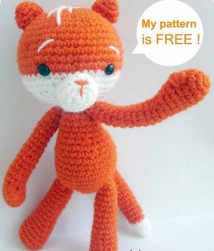 Baghis blog: FREE AMIGURUMI PATTERN: Moko the cat