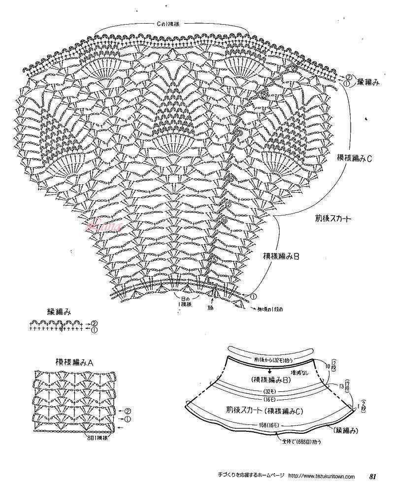 Como Hacer Vestido Tejido en Piña Para Niñas | Patrones Crochet ...