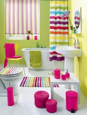 banheiro+colorido3 Banheiros simples e lindos