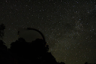 The Milky Way behind the Harlan J. Smith Telescope