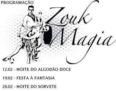 Programmacao de Zouk Magia, muita festa pra voces - Balada Zouk Magia - Sao Paulo