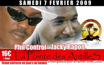 Phil control et Jacky Rapon au La Pointe des Antilles