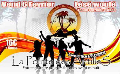 La Pointe des Antilles, Entree Gratuite pour les femmes avant minuit