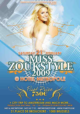Miss Zoukstyle @ Hotel Metropole - Brussels