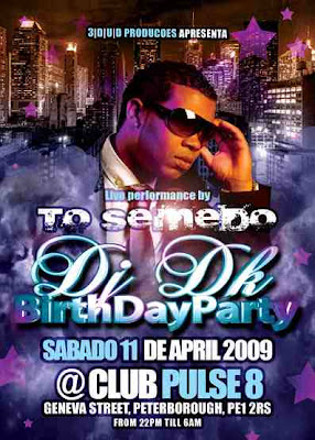 To Semedo performance Saturday the 11th April @ CLub Pulse - Peterborough