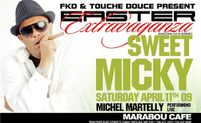 Sweet Micky with live performance by Michel Martelly @ Marabou Cafe