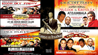 Easter Weekend with Nu Look, Carimi, T-Vice & Kreyol La @ De RIver Night CLub, CLub Mangos, Amazura & Djumbala