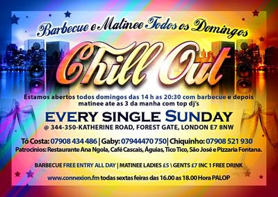 Chill Out - Barbeque & Matinee Every Sunday - London