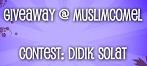 Didik Solat - Muslimcomel Giveaway