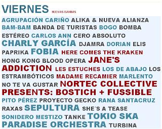 Cartel Viernes Vive Latino 2011