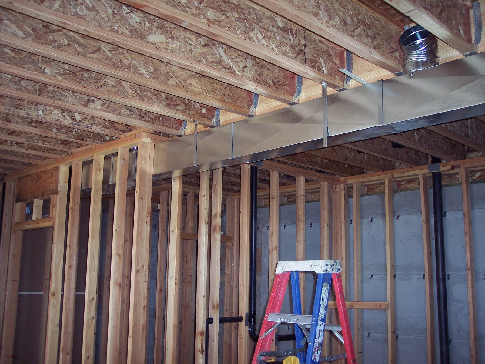 Building a Home: HVAC Ducting and Registers Being Installed #7D674E