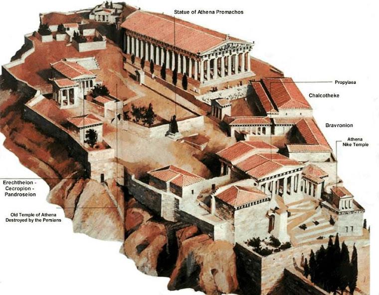 Edificio del Partenón en la cumbre de la Acrópolis