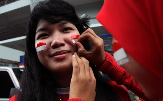 4Foto Suporter Cewek Wanita Bola Indonesia ( Timnas ) ~ Sekibol