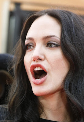 angelina jolie mouth