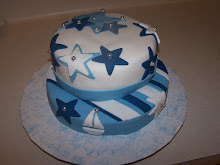 Stars & Stripes Baby Shower Cake