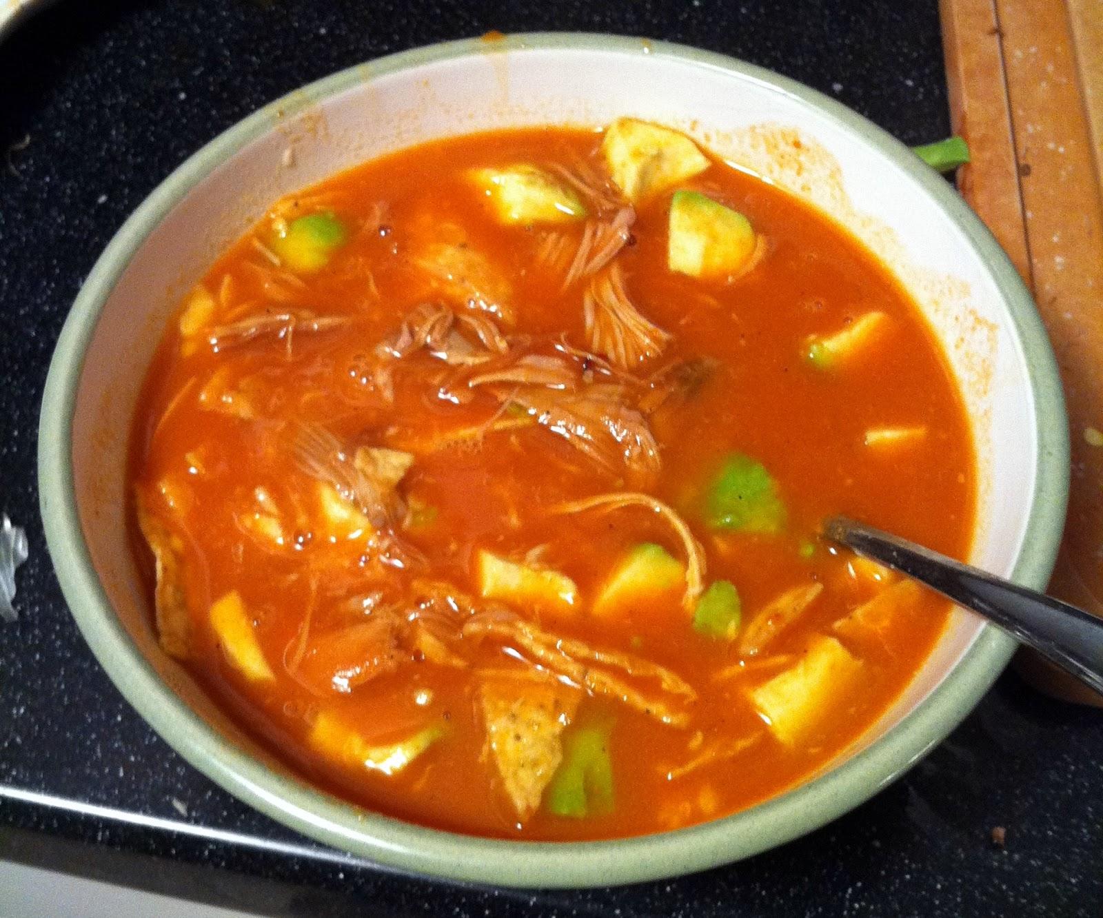 aztec soup sopa azteca tortilla soup 3 tortilla soup sopa azteca baked ...