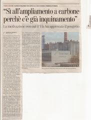 """La Stampa titola """" SI' ALL'AMPLIAMENTO A CARBONE PERCHE' C'E'GIA' INQUINAMENTO"""
