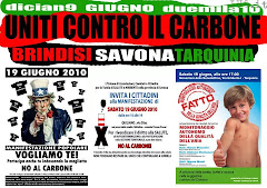 19 GIUGNO 2010 BRINDISI SAVONA TARQUINIA UNITI CONTRO IL CARBONE