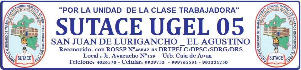 SUTACE UGEL 05