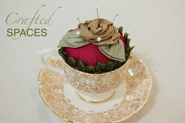 Crafted spaces teacup pincushion - Como hacer un alfiletero ...