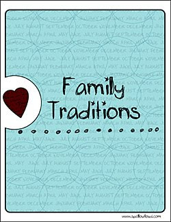 Family Traditions Notebook cover