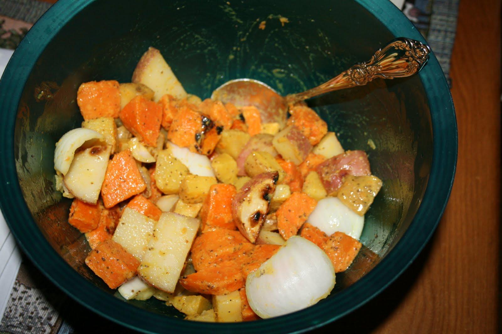 Latte' with Ott, A: hOTT off the grill: three-potato salad