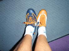 Bowling , jeg klarte det , her har jeg lånt en fot av medspiller`n