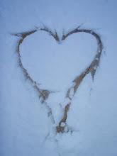 Snø hjerte. . . .